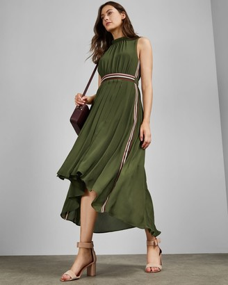 Ted Baker Sleeveless Dip Hem Midi Dress