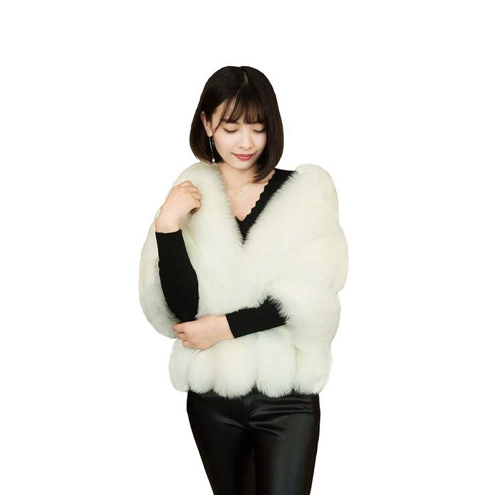 edc9e4b1e White Fur Shrugs - ShopStyle Canada