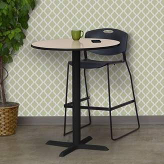 """BEIGE Hendrix Round Cafe Table Symple Stuff Top Finish: Beige, Size: 42"""" H x 30"""" W x 30"""" D"""