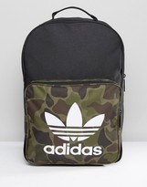 Adidas Originals Classic Backpack In Camo Bk7214