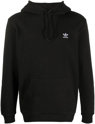 adidas Logo Embroidered Long-Sleeved Hoodie