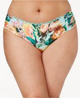 Becca Etc Plus Size High Tea Printed Hipster Bikini Briefs Women's Swimsuit