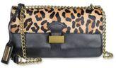Badgley Mischka Tania Wild Leather and Calf Hair Crossbody Bag