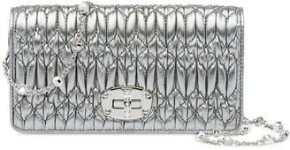 Miu Miu Crystal Nappa Leather Mini Bag