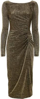 Rachel Zoe Golden Draped Evening Dress