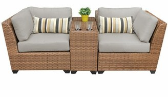 Sol 72 OutdoorTM Waterbury 3 Piece Wicker Seating Group with Cushions Sol 72 Outdoor Cushion Color: Ash