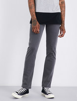 7 For All Mankind Mens Grey Practical Slimmy Luxe Performance Slim-Fit Tapered Jeans