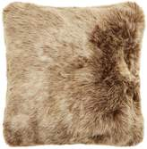 Linea Luxe brown faux fur cushion