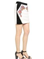 Rebecca Minkoff Malbec Embroidered Leather Skirt