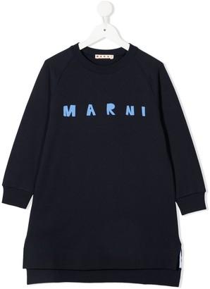 Marni Logo-Printed Sweatshirt Dress