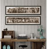 """38 in. x 10 in. """"Bathing Beauty, 1918"""" Framed Giclee Print Wall Art"""