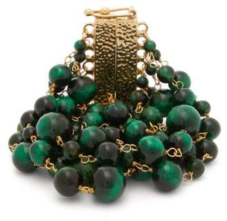 Rosantica By Michela Panero - Esplosione Beaded Metal Bracelet - Womens - Green Multi
