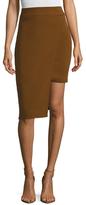 Cushnie et Ochs Stretch Cady Asymmetrical Overlay Skirt