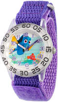 Disney Collection Girls Silver-Tone & Purple Numbered Bezel Finding Dory Watch