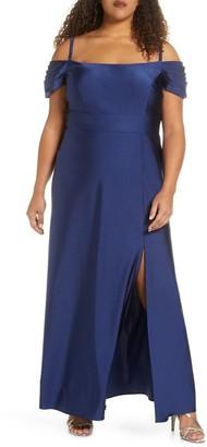 Morgan & Co. Power Satin Evening Gown (Plus Size)