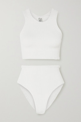 Hunza G Nile Iris Ribbed Bikini - White