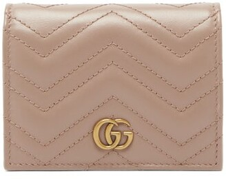 Gucci GG Marmont Quilted-leather Wallet - Womens - Nude
