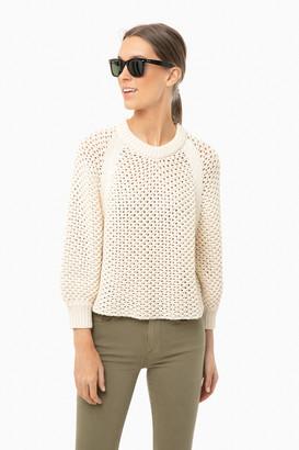 Apiece Apart Cream Merel Funnel Neck Sweater