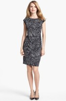 Chaus Side Ruched Print Dress
