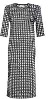 Sonia Rykiel Vichy Tweed Short Sleeve Dress
