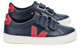 Veja Red Leather Velcro Esplar Trainers