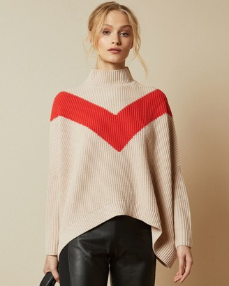 Ted Baker Ribbed Loose Polo Neck Jumper