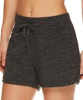 Gaiam Women's Active Shorts CHARCOAL - Charcoal Heather Traveler Knit Pocket Shorts - Women