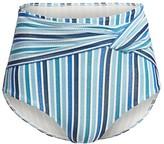 Jonathan Simkhai Striped High-Waist Bikini Bottom