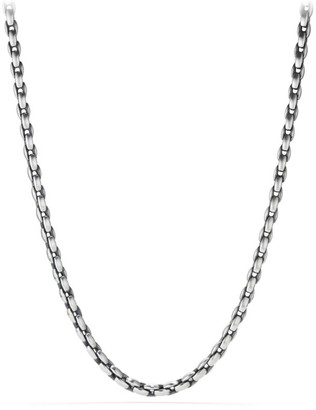 David Yurman Elongated Sterling Silver Chain Necklace