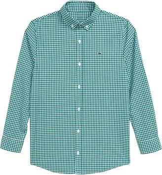 Vineyard Vines Arawak Gingham Whale Button-Up Shirt