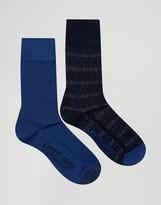 Levis Levi's Socks In 2 Pack Dot Stripe Blue