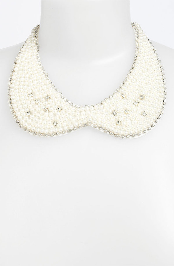 BP Faux Pearl Collar Necklace