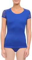 Danskin Blueberry Lace Back Tee - Women
