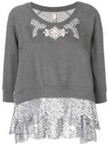 Antonio Marras embellished lace trim sweater