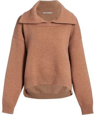Alexander Wang Collared Split-Hem Wool & Cashmere Pullover