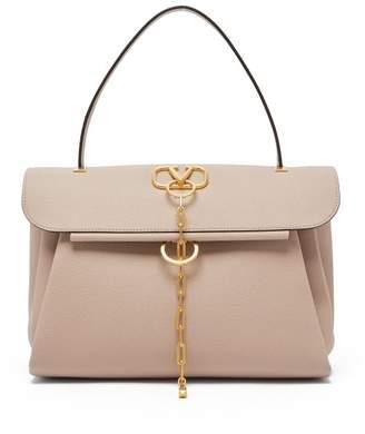 Valentino V-chain Medium Leather Bag - Womens - Nude