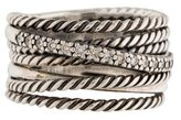 David Yurman Wide Diamond Crossover Ring