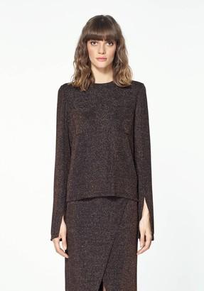 Paisie Ochre Glitter Sweater - Unique size