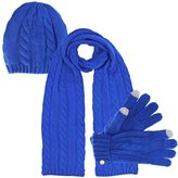 Luxury Divas 3 Piece Beanie Cap Scarf & Gloves Set