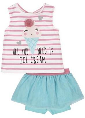 Gerber Toddler Girl Tank Top & Bike Shorts, 2pc Outfit Set