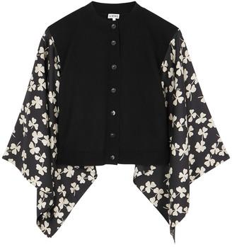Loewe Black Printed Silk And Wool Cardigan