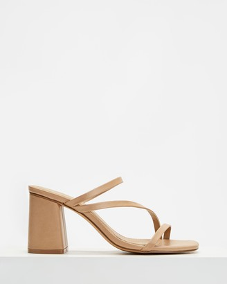 Spurr Women's Brown Heeled Sandals - Benny Heels - Size 6 at The Iconic