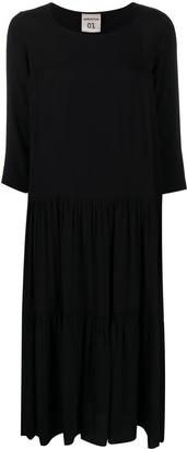 Semi-Couture Tiered Midi Dress