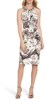 Eliza J Women's Embellished Print Sheath Dress