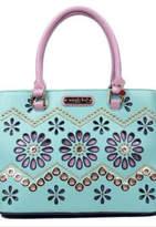 Nicole Lee Floral Laser Handbag