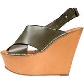 Chloé Khaki Leather Sandals