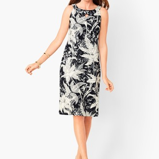 Talbots Cotton Audrey Shift Dress - Botanical