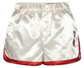 Tommy Hilfiger Satin Shorts With Appliqué
