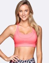Lorna Jane High Intensity Sports Bra in Neon