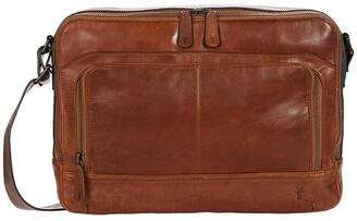 Frye Logan Zip Messenger (Cognac) Bags